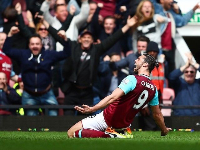 Result: Andy Carroll scores 10-minute hat-trick as West Ham, Arsenal share six goals