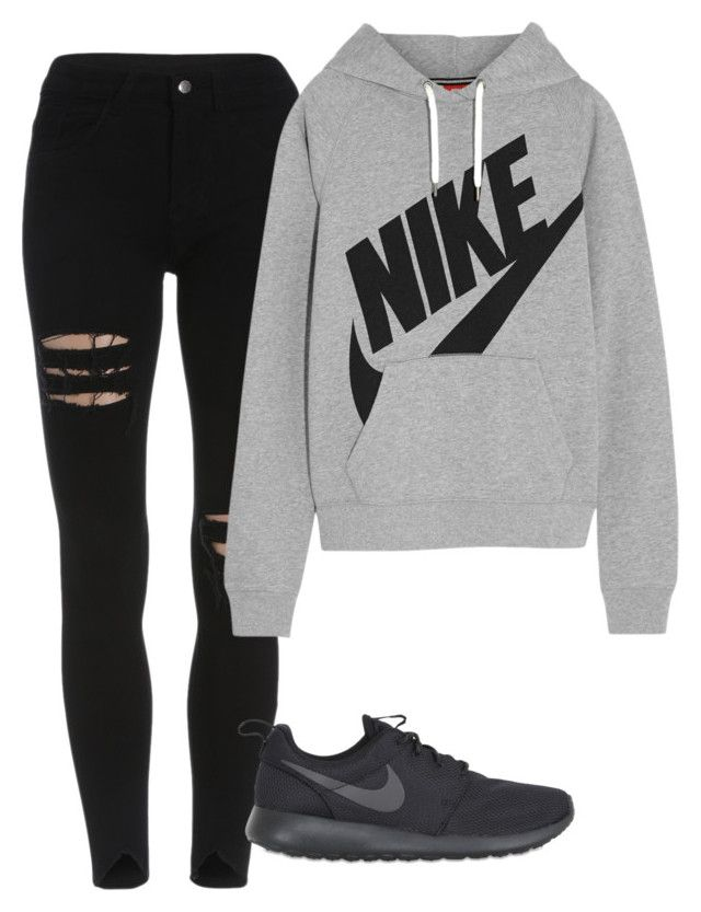 """Untitled #152"" by taryngiles ❤ liked on Polyvore featuring NIKE"