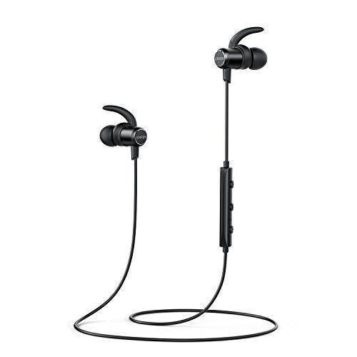 Anker Soundbuds Slim Bluetooth Kopfhrer Kabellos Mit Magnetverschluss Ipx5 Wasserfest Sport Headset Mit 7stundenspielzeitmikrofon Fr Iphone Ipad Samsung Nexus H Bluetooth Mikrofon Fernbedienung
