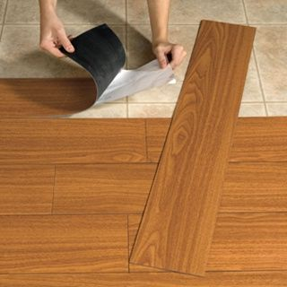 Peel And Stick Flooring That Looks Like Wood Great Idea For Renters As Seen