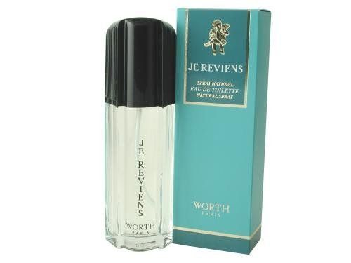 Je Reviens By Worth For Women. Eau De Toilette Spray 3.3 Ounces by Worth. $14.77. This item is not for sale in Catalina Island. Packaging for this product may vary from that shown in the image above. Introduced in 1932. Fragrance notes: a classic scent of soft florals and greens. Recommended use: romantic.When applying any fragrance please consider that there are several factors which can affect the natural smell of your skin and, in turn, the way a scent sm...