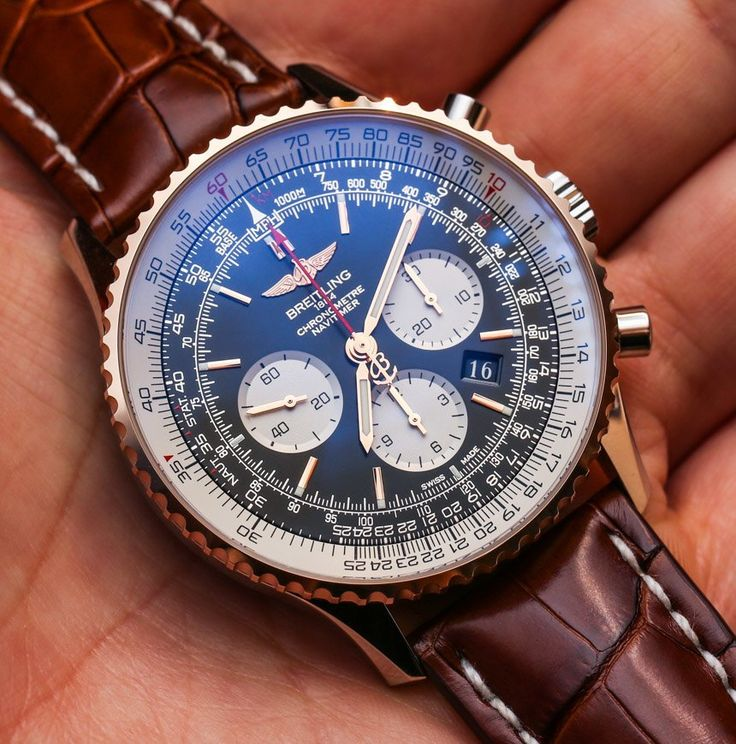 "Breitling​ Navitimer 01 46mm Two-Tone Watch Hands-On - by Ariel Adams - Are you a Navitimer man? See the photos & more on aBlogtoWatch.com ""It is a special man who finds a perfect wrist companion in the two-tone steel and gold version of the larger 46mm-wide version of the classic Breitling Navitimer watch. Of course, this is the 'Navitimer 01' model that contains Breitling's first in-house movement - the Breitling Caliber 01. Breitling Navitimer fans are a unique breed of aviation…"
