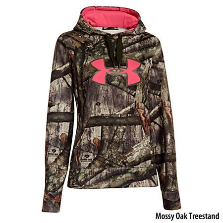 Under Armour Womens Camo Big Logo Pullover Hoodie- Mine says Lakenheath England! :D