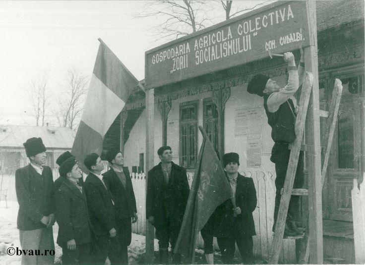 """Înfiinţarea Cooperativei Agricole de Producţie Cudalbi, anul 1961, Galati, Romania. Imagine din colecțiile Bibliotecii Județene """"V.A. Urechia"""" Galați."""