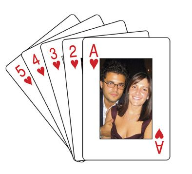 Playing cards for wedding