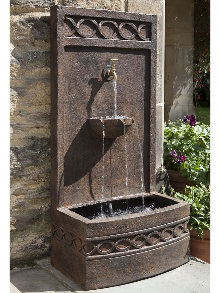 20 best ideas about outdoor wall fountains on pinterest for Outdoor wall fountains