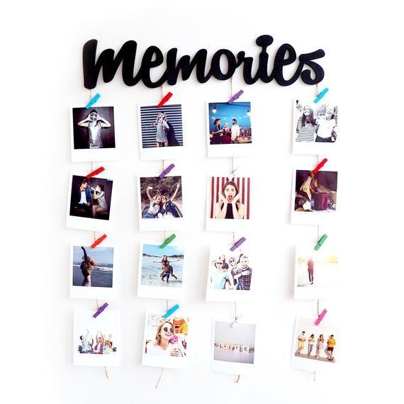 Photo Board Picture Board Photo Display Wedding Photo Etsy In 2020 Photo Wall Display Wall Decor Memories Cute Room Decor