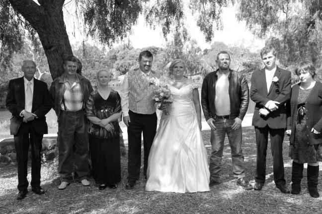 David, Phil, my Mum Heather, us, then Matt and my children, Thomas and Emily.