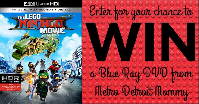 Metro Detroit Mommy: The Lego Ninjago Movie Blue Ray DVD #promo & Giveaway {ends 1/11/18}