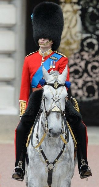 Prince William, Duke of Cambridge during the Trooping the Colour at Horse Guards Parade in London.