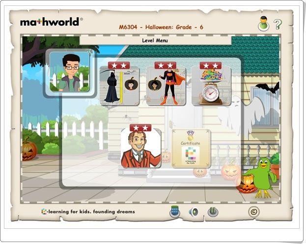"""""""Mathworld 6"""" (Lessons.e-learningforkids.org)"""