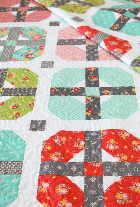 Sincerely quilt pattern from A Bright Corner - takes fat quarters and has four sizes to choose from!