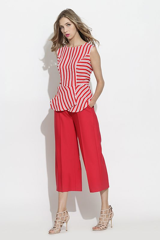 #furelle #springsummer2016 #summer #SS16 #fashion #newarrivals #red #raspberryred  #silesiastyle #newcollection #musthave #culottes #trousers  #shirt #stripes #highheels #beauty #romantic #woman  #elegant #polishdesigner
