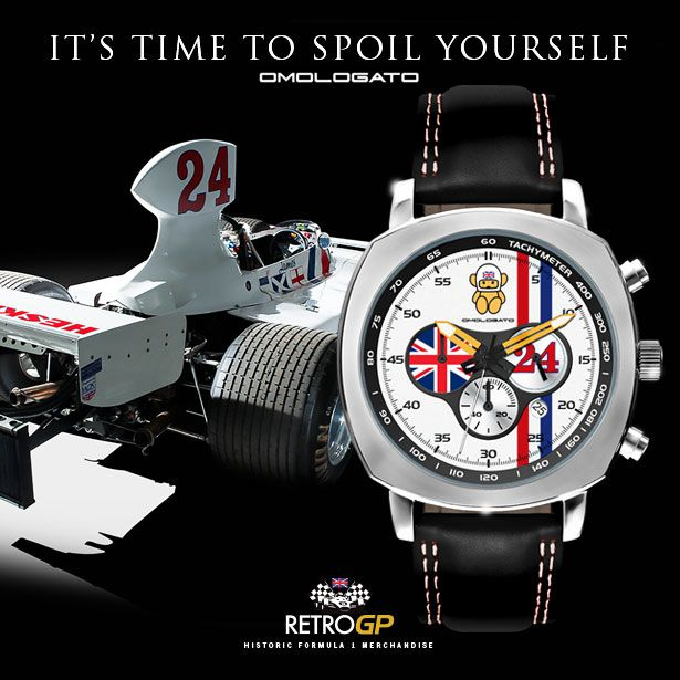 Hesketh Racing Chronograph Watch by Omologato. Arriving Sept 1st 2015. Reserve yours by visiting our website