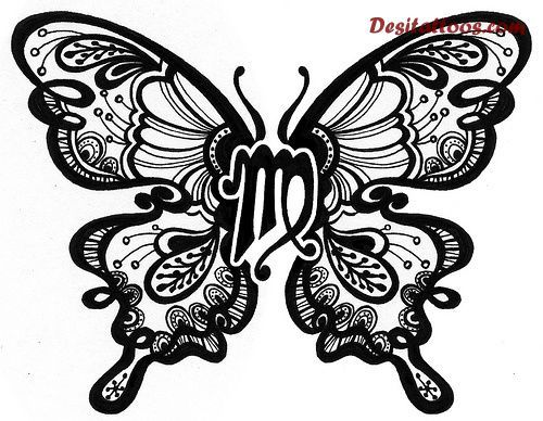 Virgo Butterfly - would make for a cool tattoo! Description from pinterest.com. I searched for this on bing.com/images