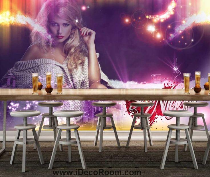 3d sexy nights wallpaper of sexy woman Art Wall Murals Wallpaper Decals Prints Decor IDCWP-JB-000644