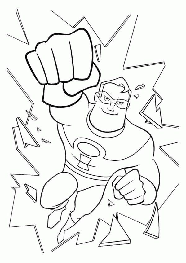 mr incredibles destroying glass in the incredibles coloring page mr incredibles destroying glass in the incredibles coloring page - Incredibles Coloring Page