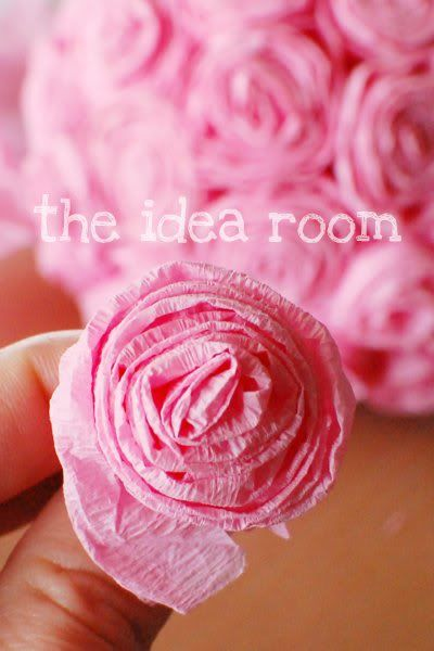 crepe paper roses- Good idea!