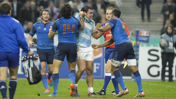 L'altercation entre le Puma Agustin Creevy et les Français Yoann Huget et Wesley Fofana - France Argentine - 22 novembre 2014
