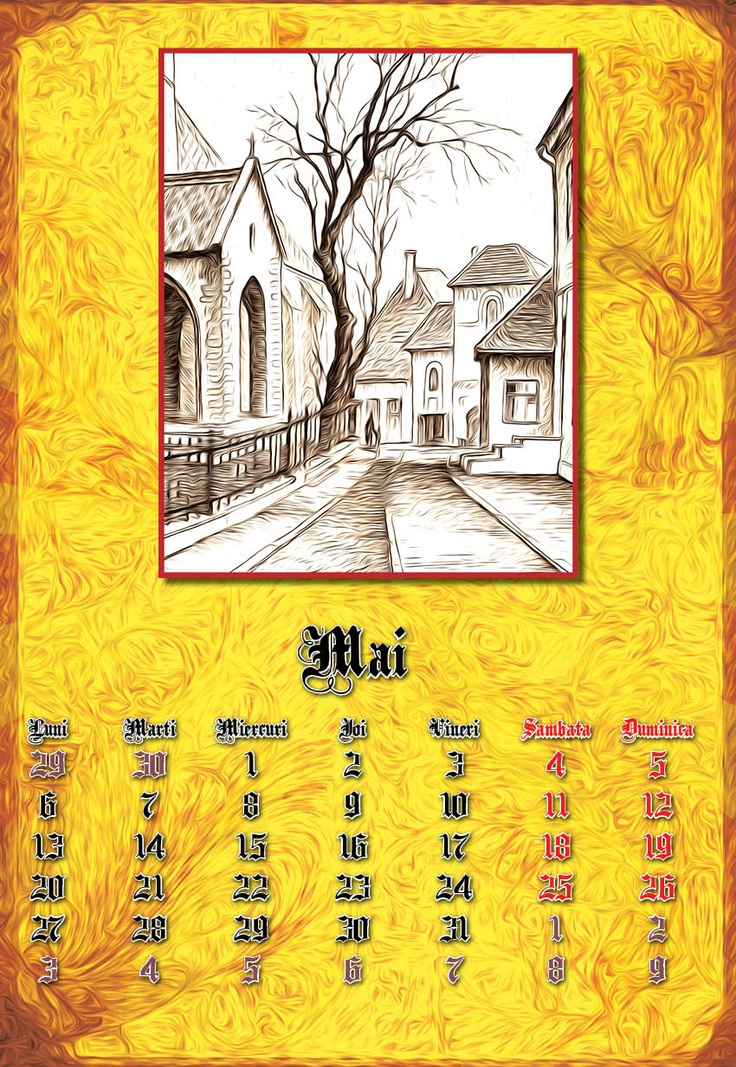 calendar ~ May, 2013