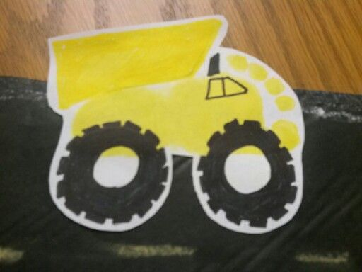 Footprint Dump Truck Drew Birthday Pinterest Trucks