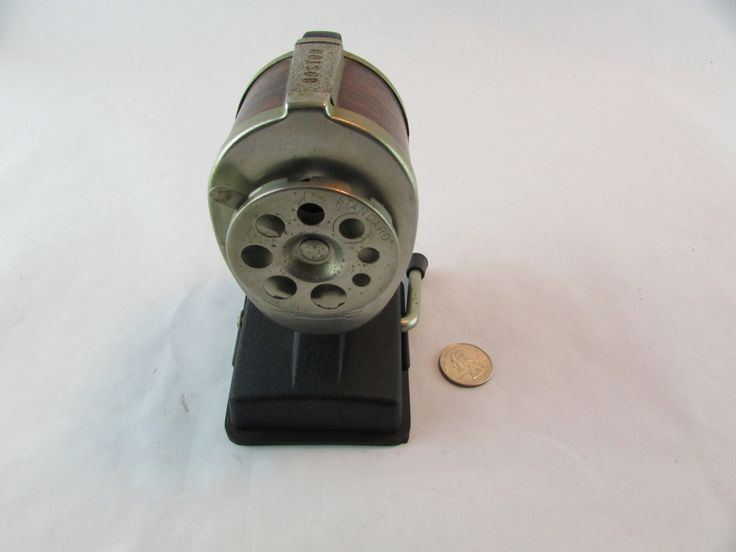 Vintage BOSTON Vacuum-Mount Manual Pencil Sharpener 8 Hole Suction Cup Woodgrain by Cosmokra on Etsy
