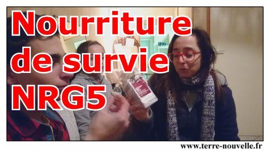 On a testé : nourriture de survie, Emergency Food Ration NRG 5