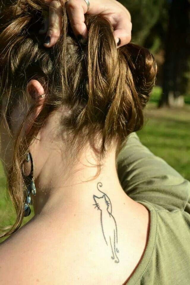 if i would ever think of having a tattoo it would be this adorable cute and simple cat tattoo