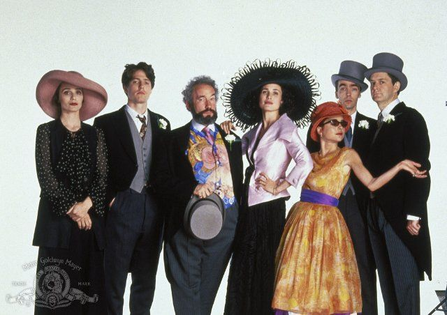 Four Weddings and a Funeral: Kristin Scott Thomas, Hugh Grant, Andie MacDowell, Simon Callow, John Hannah, Charlotte Coleman and James Fleet in Four Weddings and a Funeral