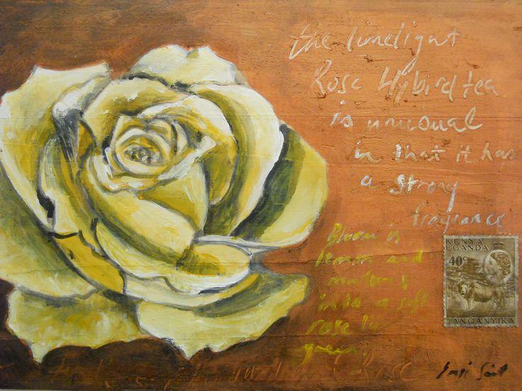 """""""Rose inspiration"""" Acrylic on wood"""