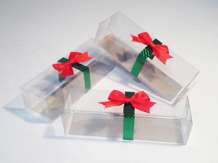 Caja de acetato para bombones decorados