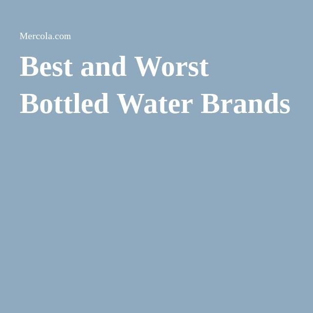 Best and Worst Bottled Water Brands