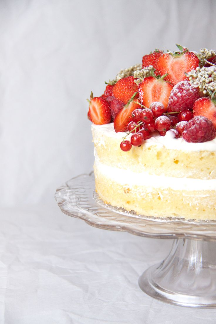 Elderflower Cake with Summer Fruits | A Girl and Her Home