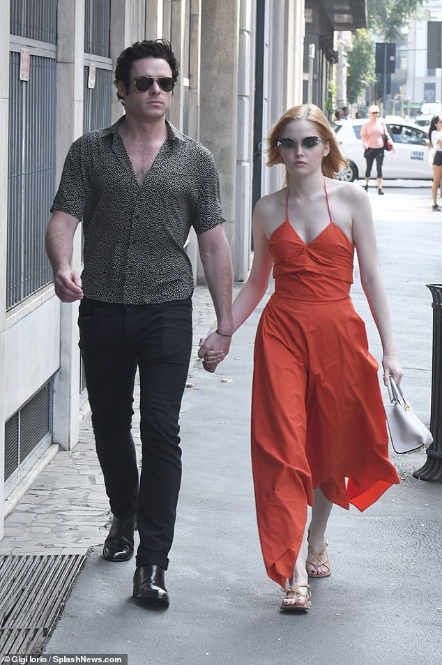 f91d8dc9828 Richard Madden and Ellie Bamber go to Salvatore Ferragamo MFW show