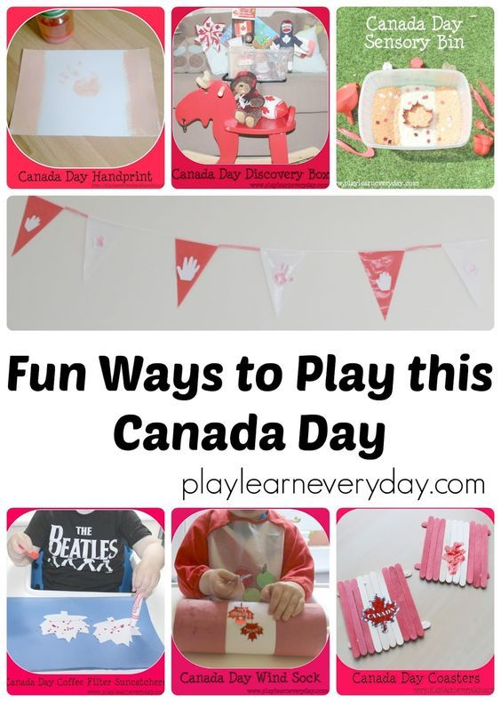 A collection of crafts and sensory activities for young kids to have fun this Canada Day.