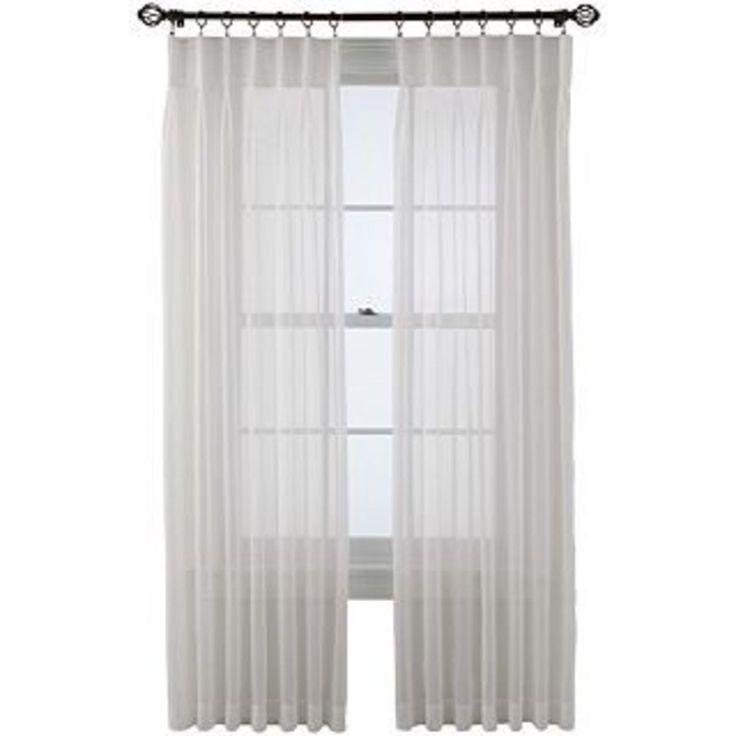 Voile Pinch Pleat Sheer Panel Pair  Moonbeam | Home   Curtains | Pinterest