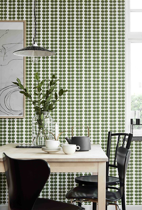 """Berså"" design by Stig Lindberg (as wallpaper) 