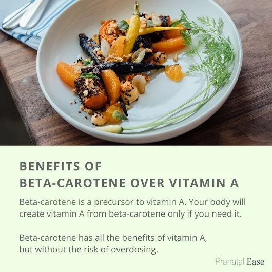 vitamin A is important for good vision and eye health, as well as a maintaining a strong immune system! Excessive vitamin A can lead to toxic effects, so make sure you stay within the daily limits. Taking beta-carotene is safer as you can't overdose in vitamin A from it (read the labels on your supplements).