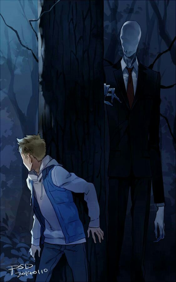 Slenderman, boy; Creepypasta