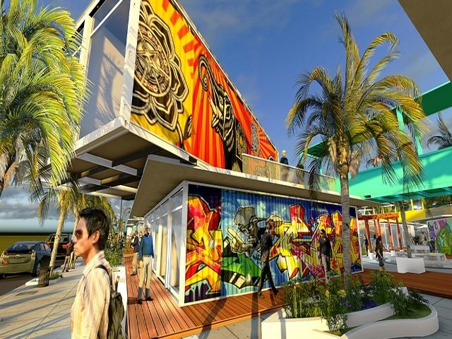shipping container mall | Tampa artist Mishou Sanchez is looking to create affordable spaces for ...