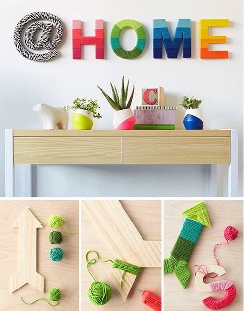 ideas para decorar paredes con letras