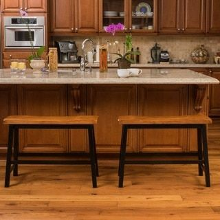 Shop For Pomeroy Saddle Wood Counter Dining Bench (Set Of 2) By Christopher  Knight