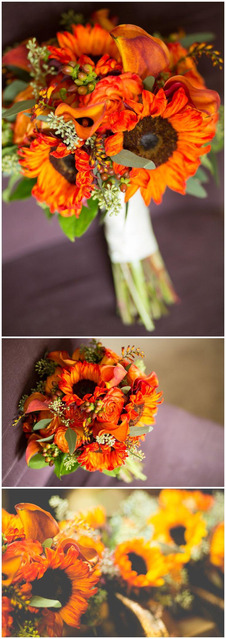 Fall, Sunflower Wedding Bouquet by Iza's Flowers, Inc.  www.weddibgsbyiza.com Photo by Brandi Image Photography