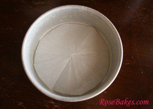 How to Line Round Cake Pan