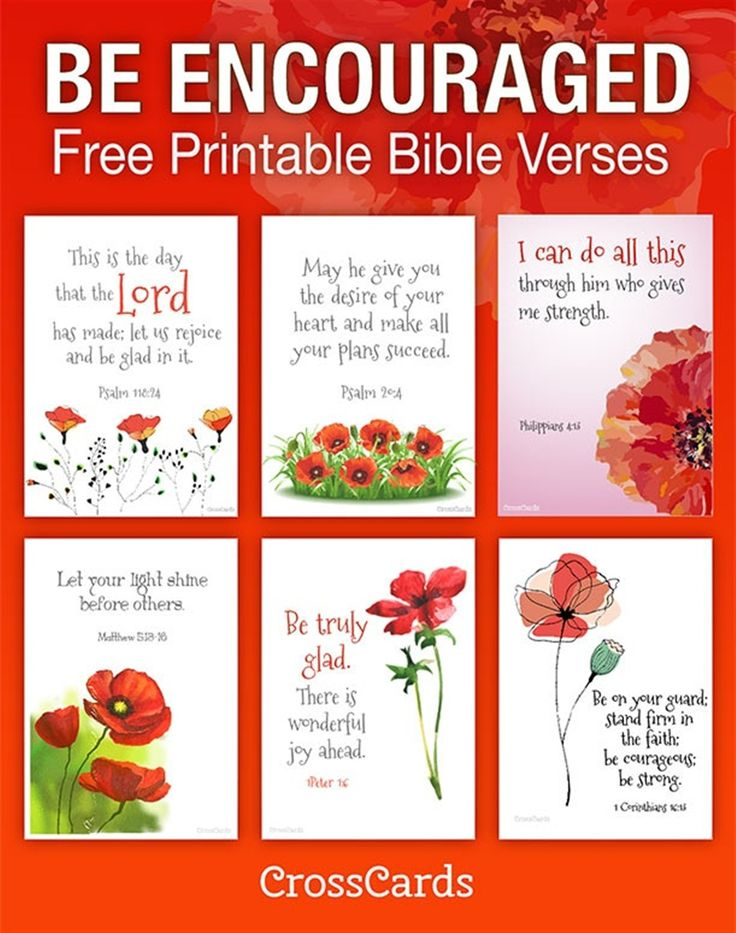 Be Encouraged! Free Printable Bible Verses #printables #scripture