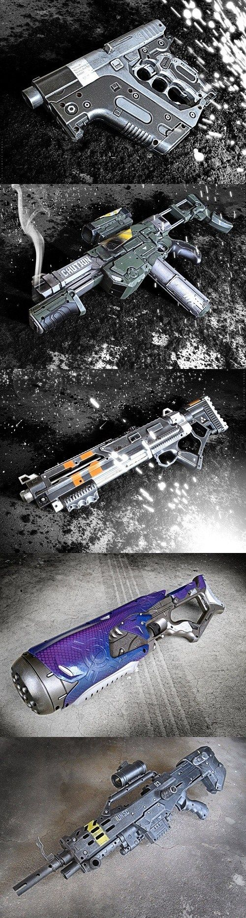 Halo Inspired Nerf Guns. Do I want these? Is like Schwarzenegger hard to spell? <- nice