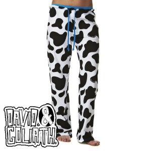 Cow Print Pajama Bottoms