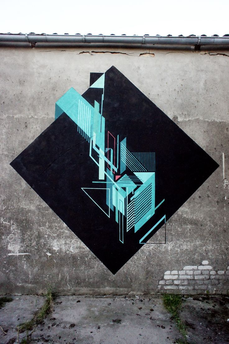Seikon has remained active over the summer, here is a set of new walls from the Polish artist. Working in a geometric non-objective style Seikon continues to push the tradition of geometric influenced subject matter in the realm of urban art.