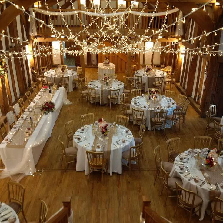 Great shot by Debbie of our cross canopy at the Tudor Barn Burnham for an autumn wedding