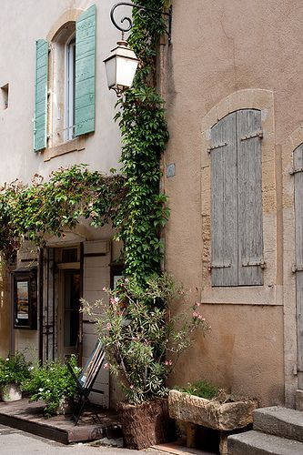 Lourmarin, Vaucluse, Luberon, Provence, France. Oleander, trough